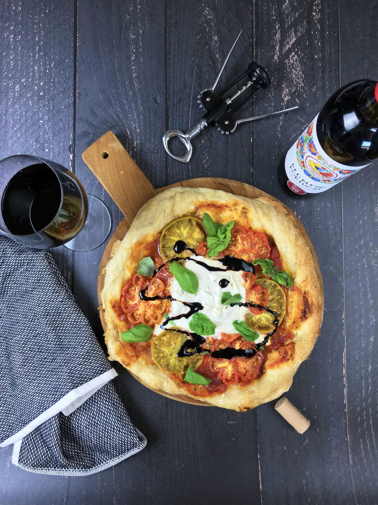 Heirloom Pizza Margherita With Burrata And Balsamic Glaze Hello Ani